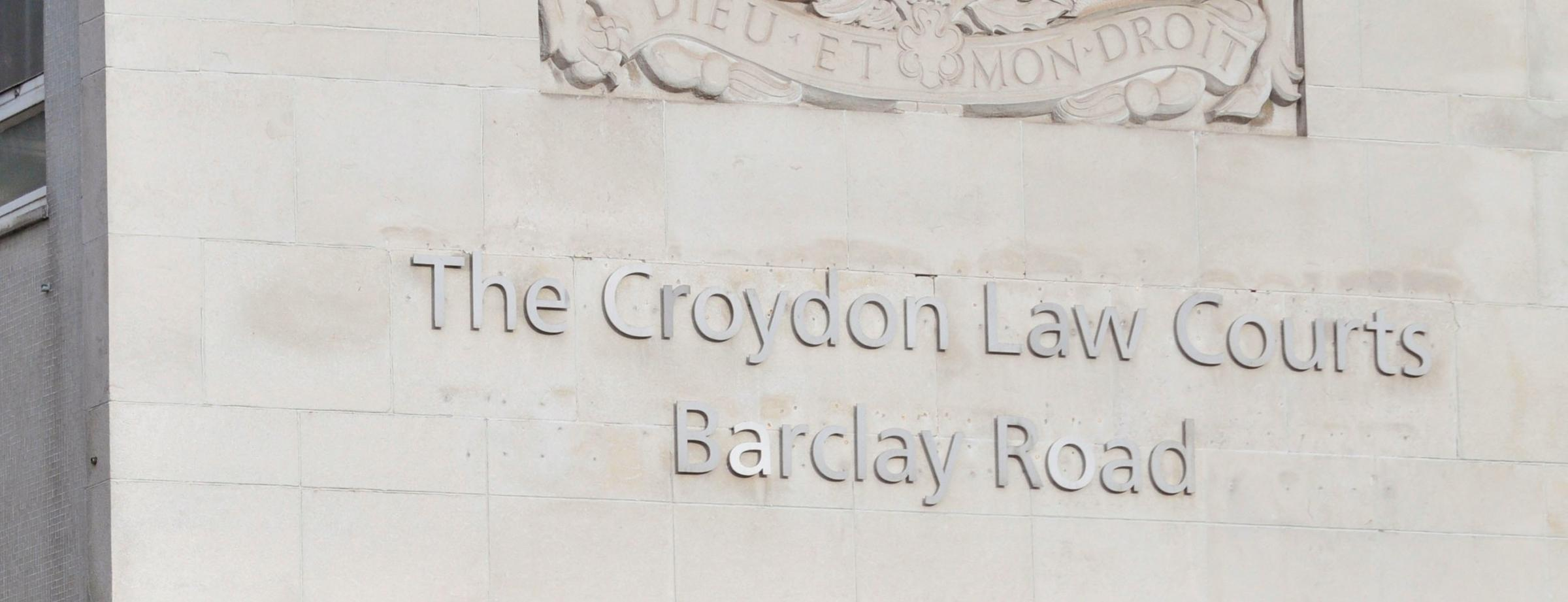 The walkout took place at Croydon Law Courts
