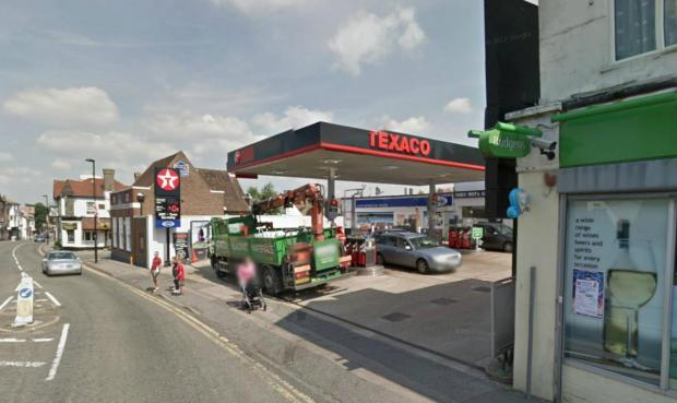 Thieves raided the garage on High Street, Caterham