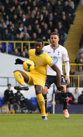 Winger Yannick Bolasie in action at Spurs