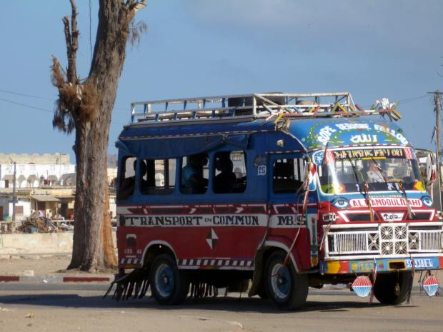 Croydon Guardian: This decorated minibus is used as an intra-city bus service in Saint-Louis, Senegal