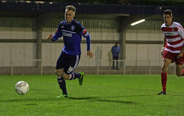 On target: Met Police striker Charlie Collins now has 11 goals to his name this term
