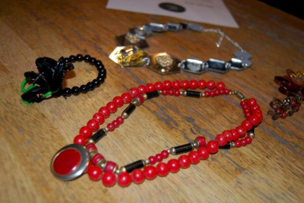 A creation from an Upcycled Jewellery event by Crafty Pint