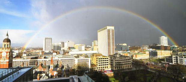 Croydon Guardian: Nice rainbow over Croydon town centre