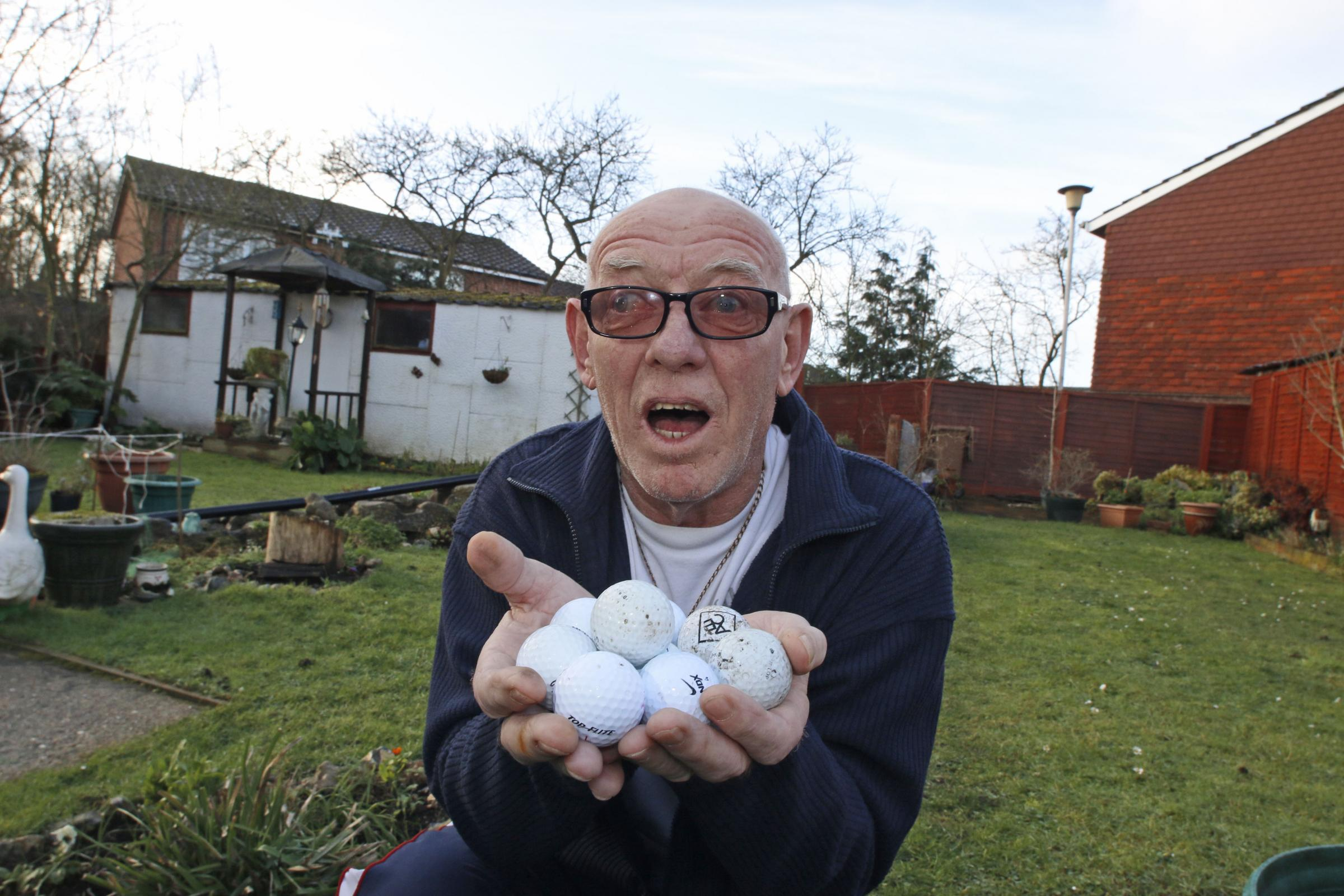 Graham Trodd has found nine golf balls in his garden this month