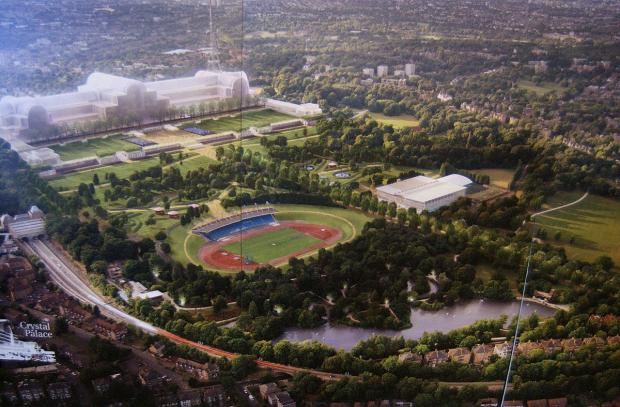 Croydon Guardian: The Crystal Palace plan was on display at the consultation event in Anerley Town Hall