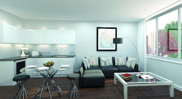 Croydon Guardian: The living room/ kitchen areas of the flats could look similar to this when completed.