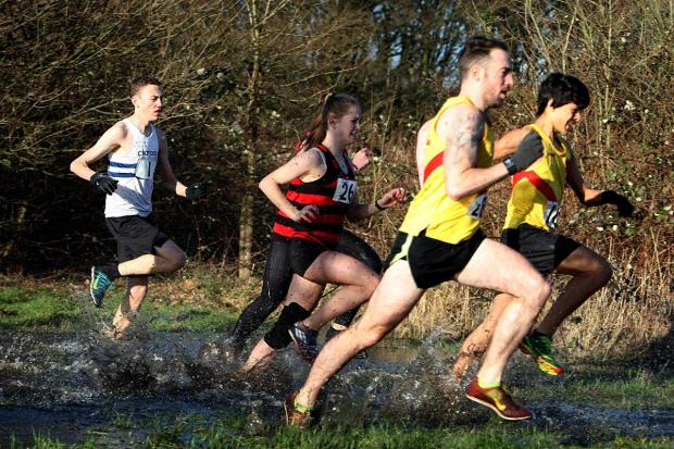 Croydon Guardian: Team effort: Hercules Wimbledon in action at the East Surrey cross-country relays