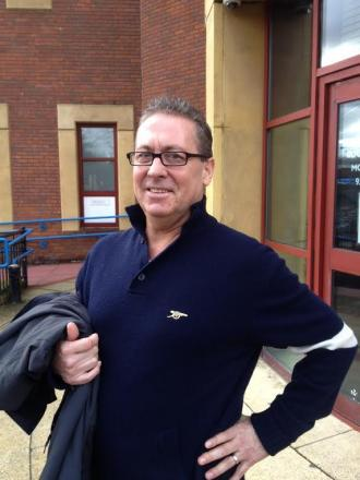 Kenny Sansom outside court today