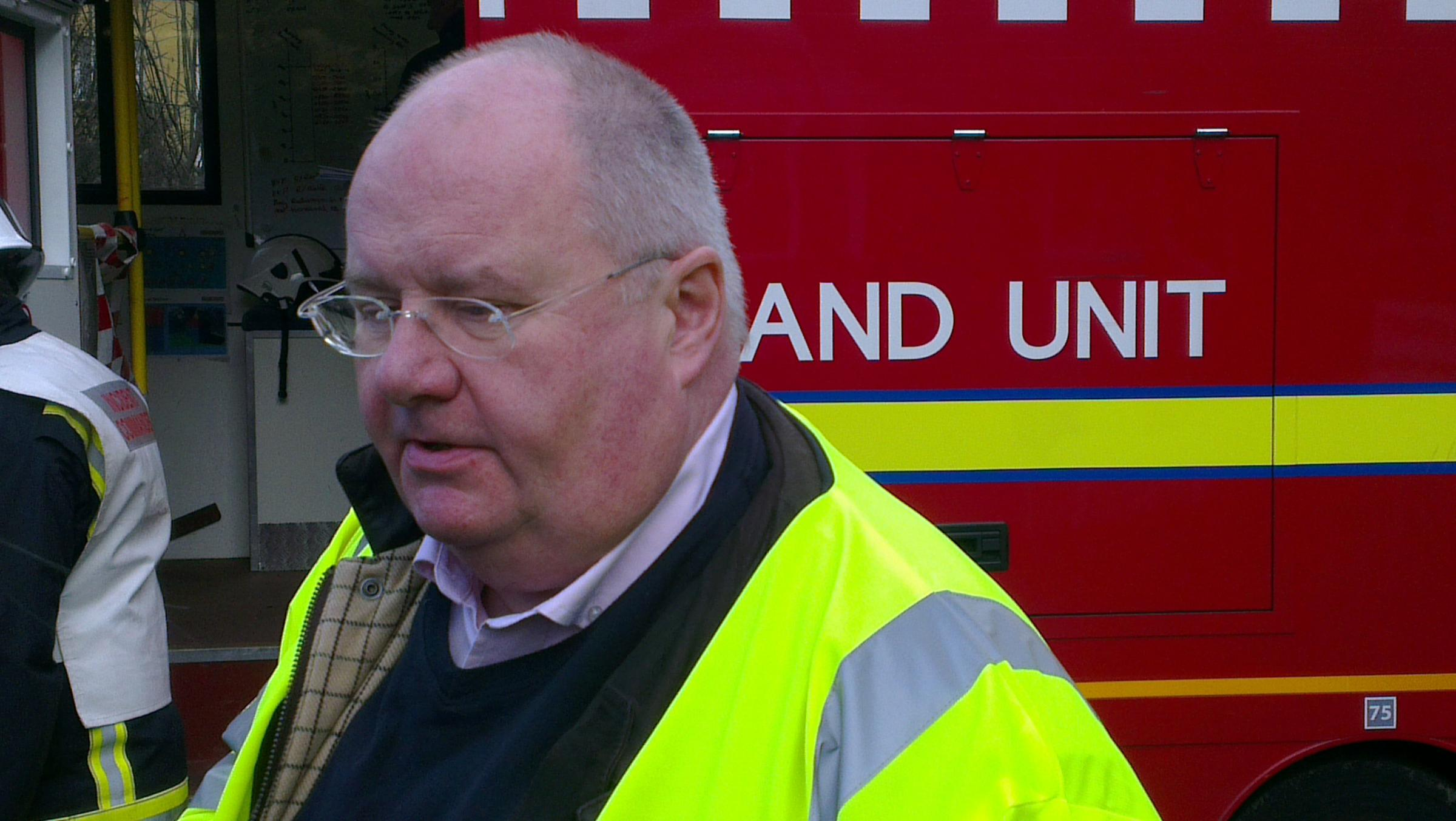 Eric Pickles during the visit to Kenley this morning