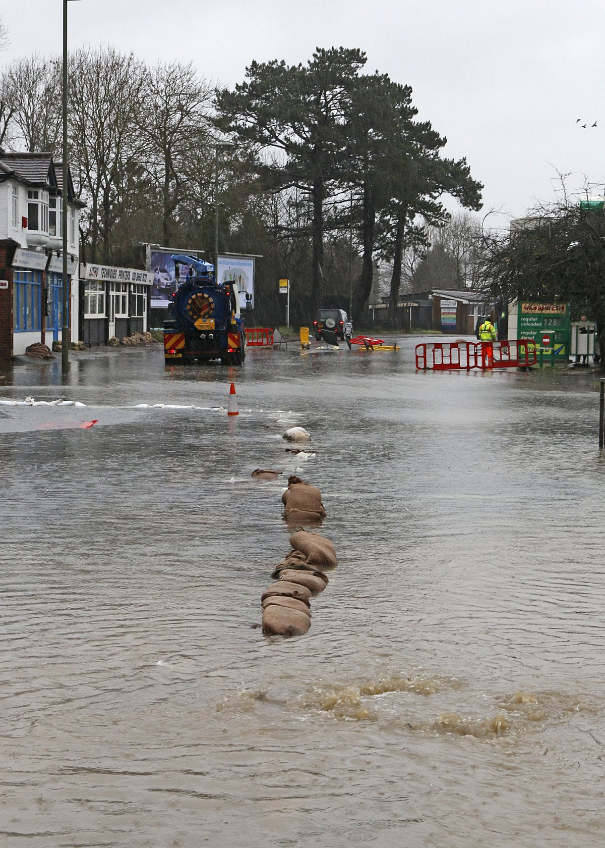 Part of Godstone Road is under water