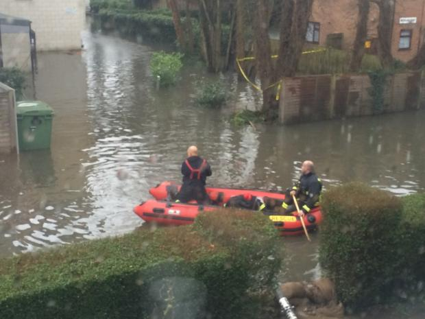 London Fire Brigade has brought in rescue boats. Picture by Kevin Zuchowski-Morrison