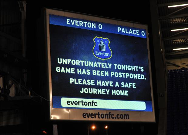 The big screen at Goodison Park                     Pictures: Keith Gillard