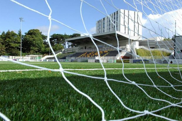 Green grass of home: Maidstone United's home games have avoided postponement due to their 3G artificial pitch          Picture: KM Group