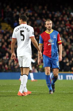 Old guard: Manchester United's Rio Ferdinand had to cope with the returning Glenn Murray