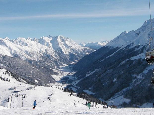 St Anton is a popular skiing resort in Austria