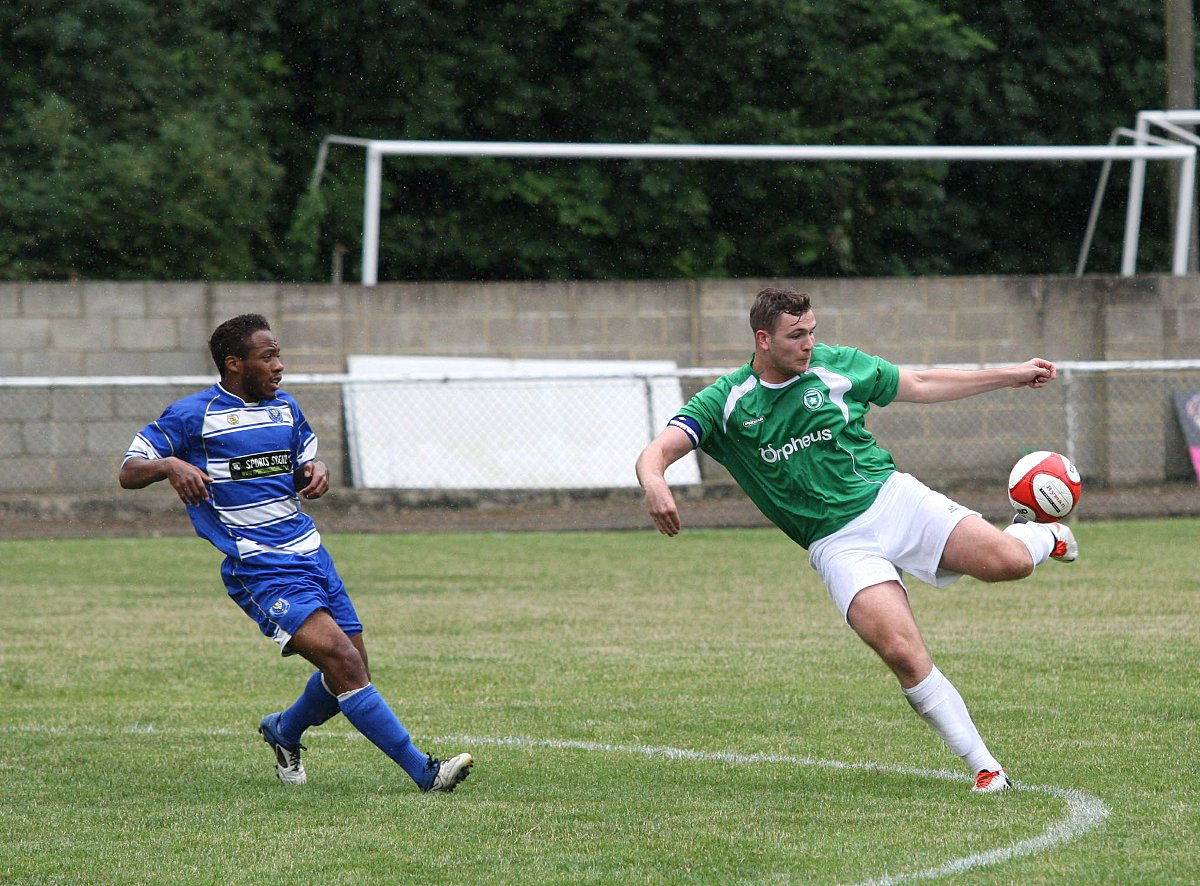 Double salvo: Jason Thompson bagged two goals in Whyteleafe's 3-1 win at Phoenix Spor