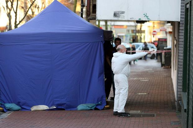 Croydon Guardian: Forensics officers at the scene near Norwood Junction station on Saturday