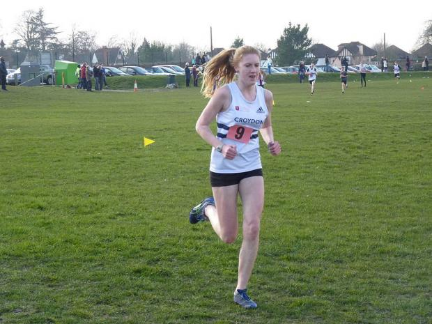 Running for the county: Stevie Lawrence helped guide Surrey to second place at the English Schools Championships in Donnington Park