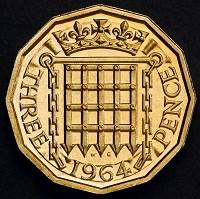 Croydon Guardian: The reverse side of a 12-sided three-pence piece which was in circulation from 1937 until decimalisation in 1971 (PA/HM Treasury)