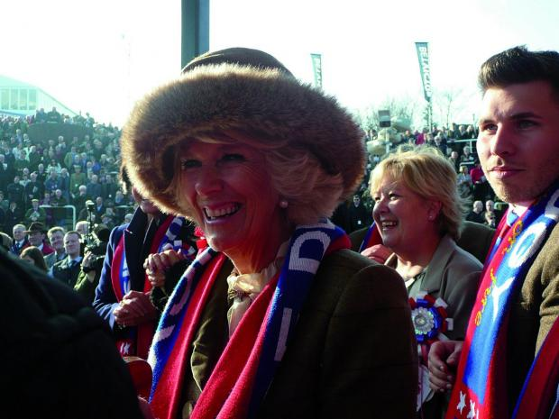 Croydon Guardian: The Duchess of Cornwall was given one of the Sire De Grugy scarves