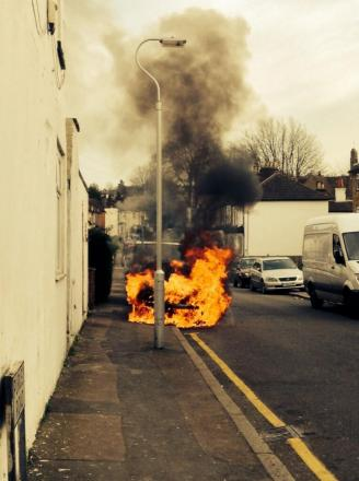 Magaician Jack Taperell took this picture as he walked past Purley Road this afternoon