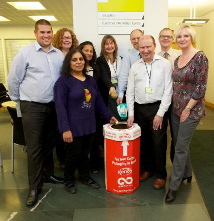 Land Registry staff are collecting coffee packaging as part of a recycling fundraising scheme