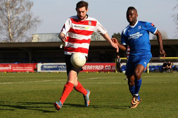 Last action hero: Matt Drage hit a last-gasp winner for Kingstonian over Bury Town on Saturday             SP81840