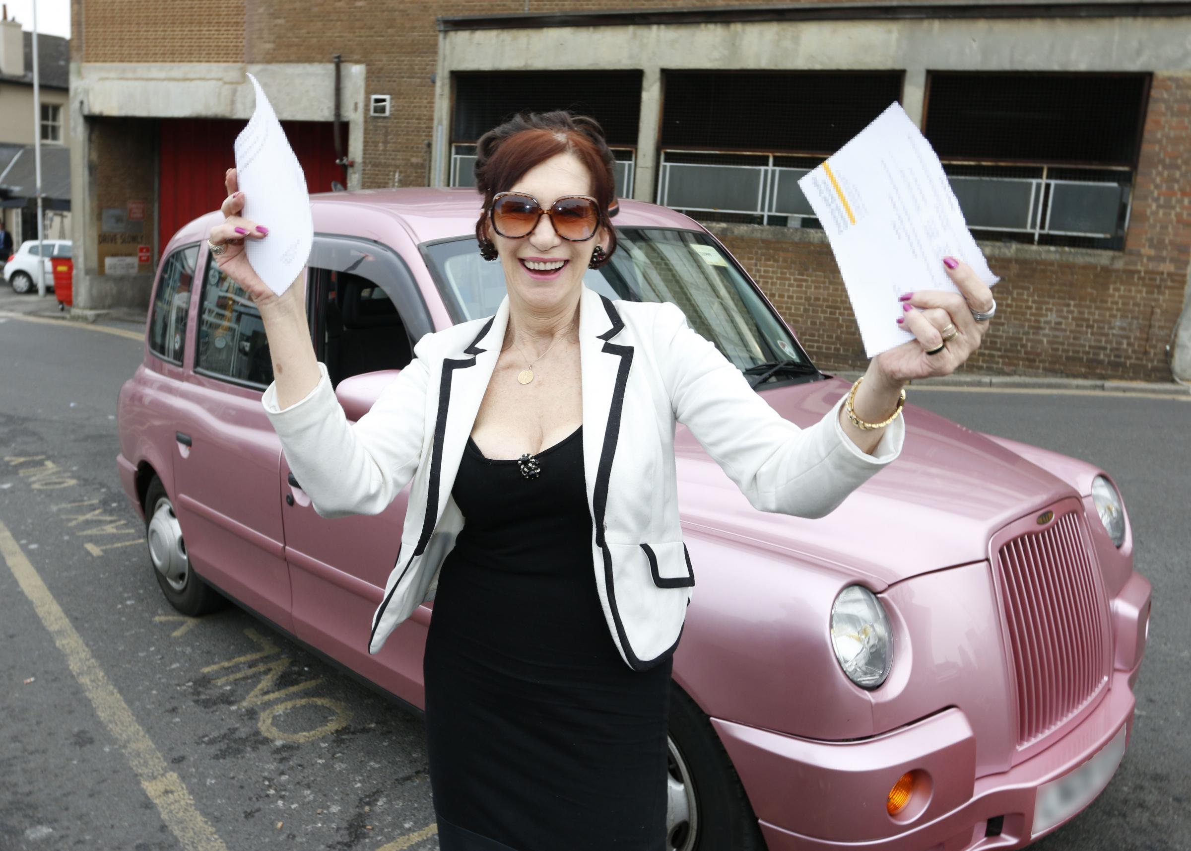 Delighted: Denise Borg beat Croydon Council's traffic fines