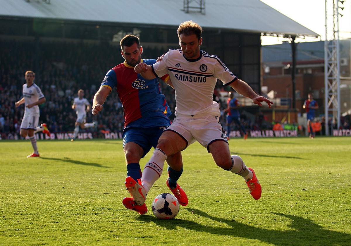 Croydon Guardian: Branislav Ivanovic holds off Joe Ledley