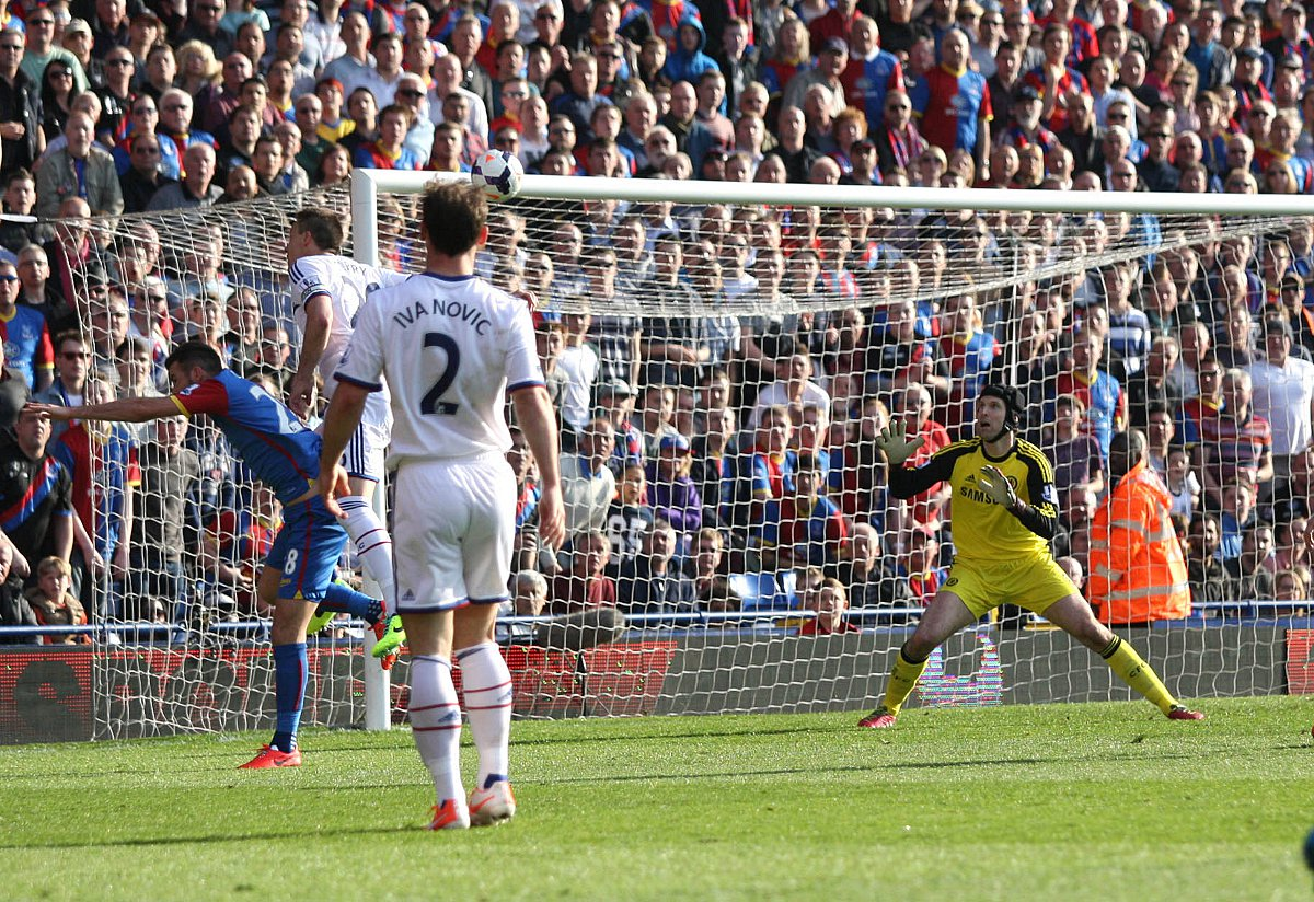 Silly hare: John Terry heads into his own net during Palace's fabled win over Chelsea              SP81788