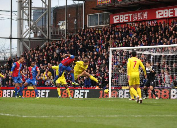 Last time round: Cameron Jerome scores his only goal of the season (so far) in Palace's 2-0 win over Cardiff City in December    SP78370