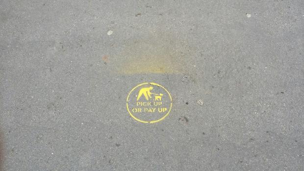 The pavement stencils
