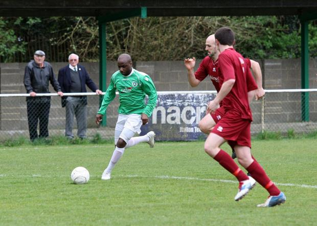 Off: Roscoe DSane saw red in Whyteleafe's 1-0 defeat at Corinthian on Tuesday night - as did team-mate Jensen Grant              SP84263
