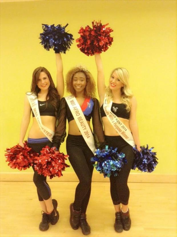 Croydon Guardian: Miss Robinson is supporting the efforts of fellow Crystals cheerleaders Kimberley and Kate Fletcher on their route to the finals