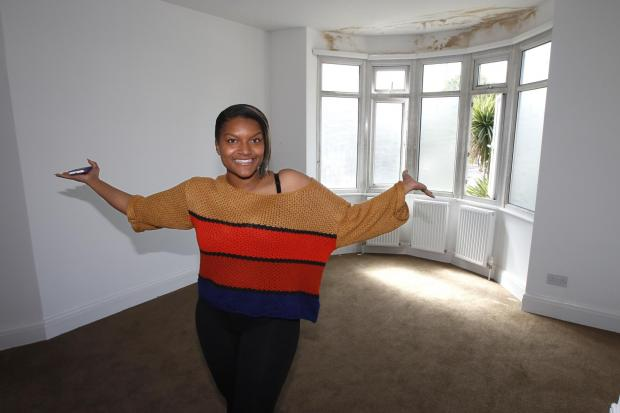 Sherica Spence inside the house