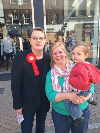 Eddie Izzard in Croydon today