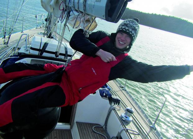 Sean Nathan is sailing the seas as part of an apprenticeship