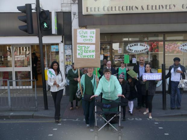 Croydon Citizens leaders joined with elderly and disabled people to highlight their issues with crossing Brigstock Road