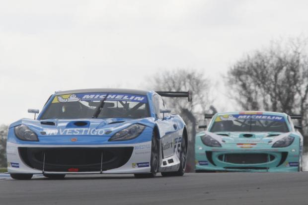 Super fast: Charlie Robertson leads the Ginetta GT4 SuperCup Championship after six rounds