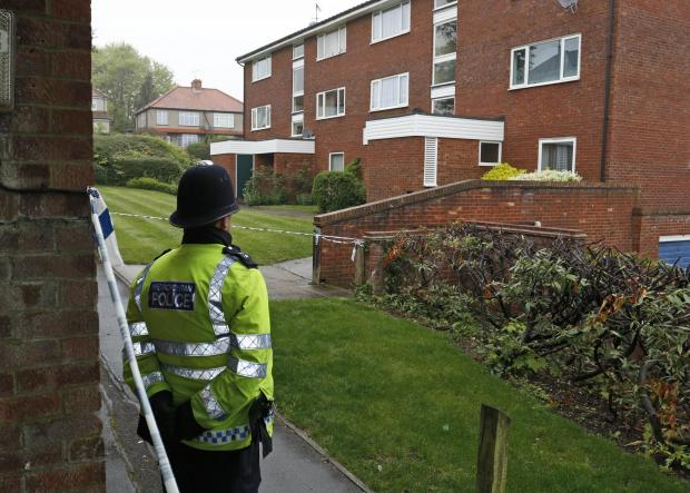 Police cordoned off part of the Forestdale estate following the murder