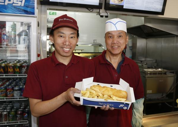 Stuart and Sing Mok, owners of Fry Station