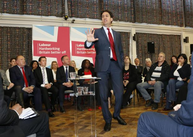 Ed Miliband, the Labour party leader, was at the Addington Community Centre this morning