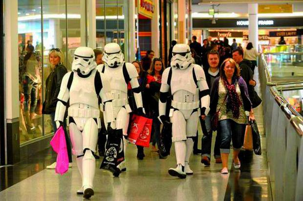 Croydon Guardian: The Stormtroopers did not exactly blend in at Centrale shopping centre