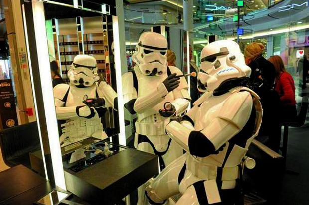 Croydon Guardian: The Stormtroopers experimented with make up on their trip to Croydon