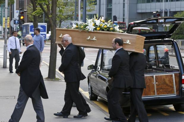 Croydon Guardian: Anthony Laundy's funeral in Croydon