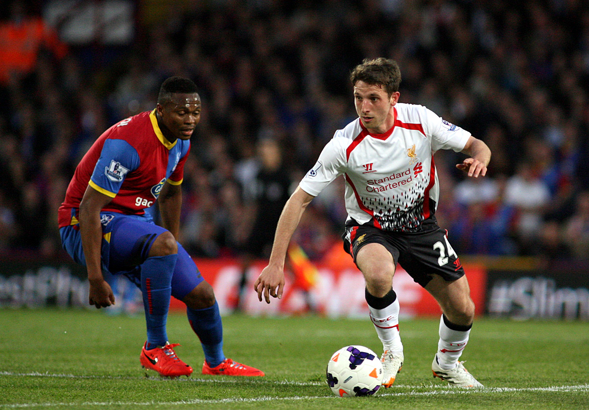 Croydon Guardian: Joe Allen gets away from Yannick Bolasie