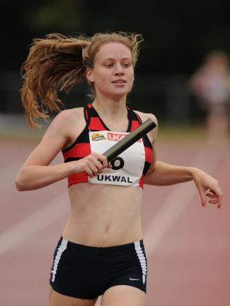 Silver medalist: Katie Snowden won silver in the 800m at the British Universities & Colleges Sport Athletics