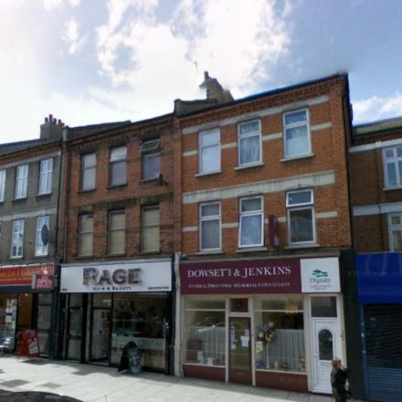The roof collapsed above Rage hairdressers in London Road. Picture Google.