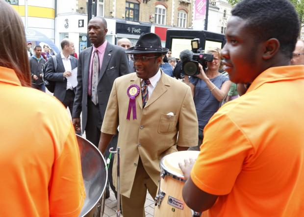 Nigel Farage didn't turn up as expected in Croydon leaving UKIP candidate Winston McKenzie dancing in front of the steel band which soon stopped playing