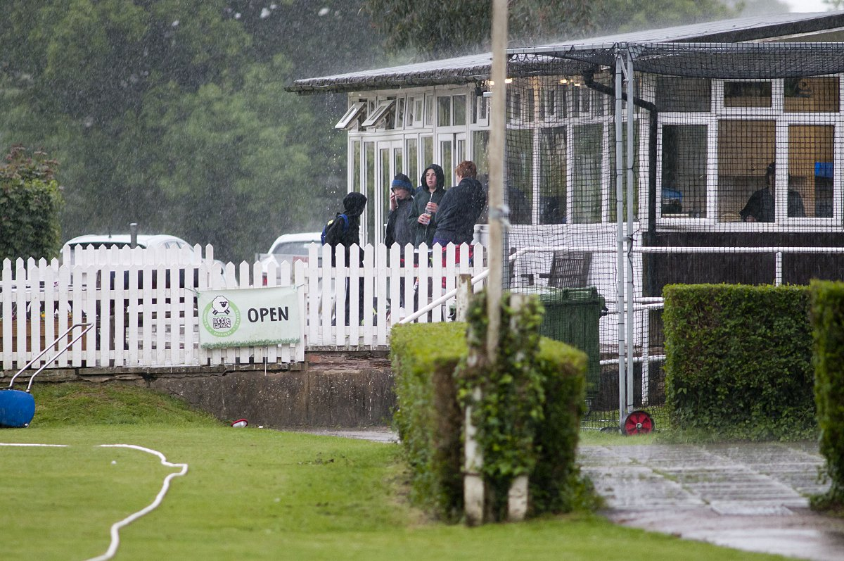 Rained off: Saturday's rain accounted for exactly half the scheduled 30 Surrey Championship games, including Banstead v Spencer in the Premier Division, p